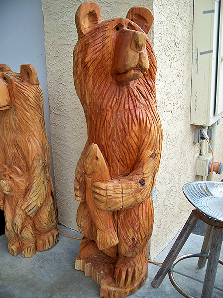 Bear carvings